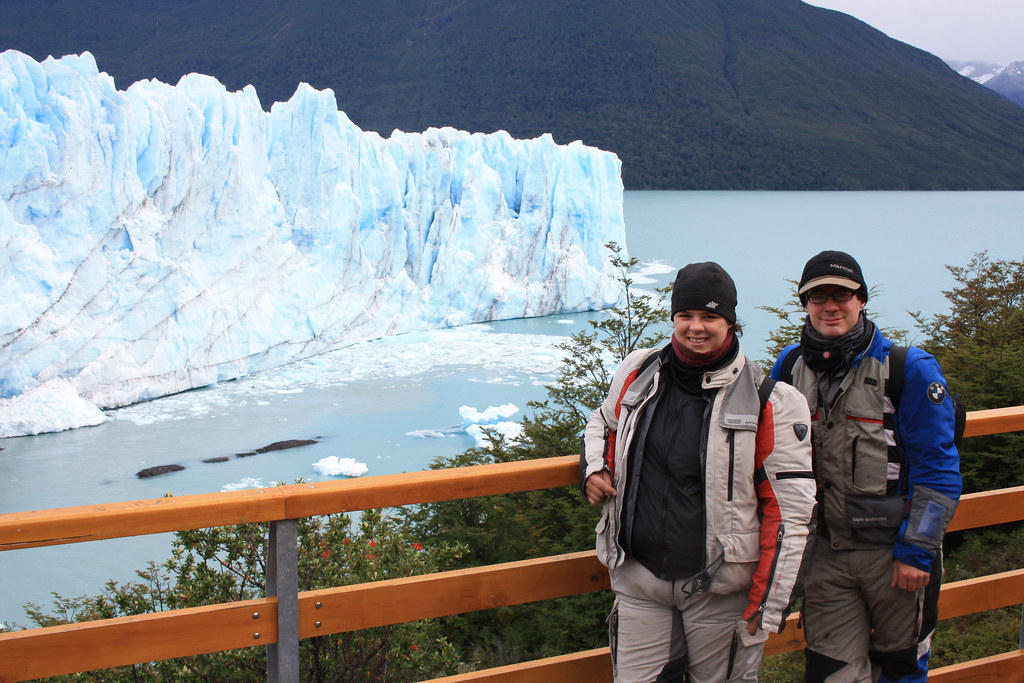 Dachary and Kay at Perito Moreno Glacier