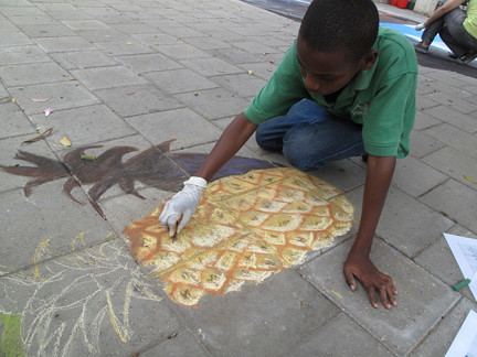 3d street art - Tracy Lee Stum student workshop