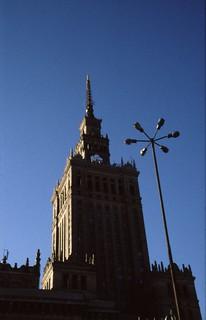 Paleis van Cultuur en Wetenschap - Warschau {juli 1999}