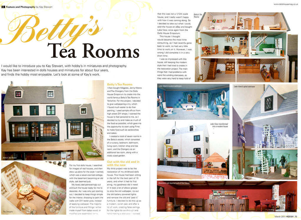 My article in Dolls House and Miniture Scene - March 2011