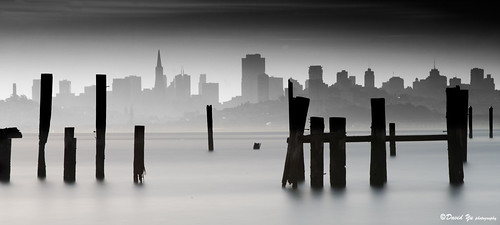 San Francisco cityscape long exposure