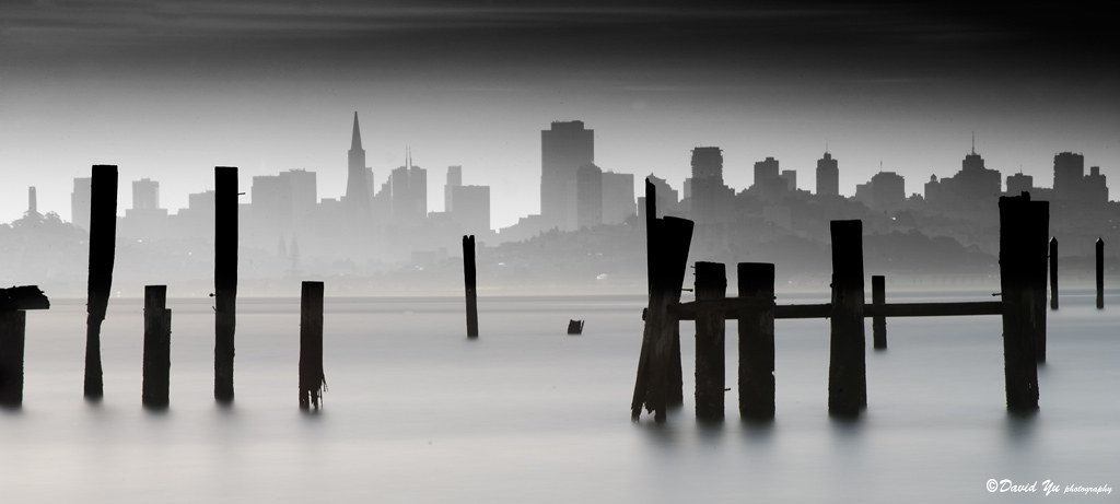 San Francisco cityscape long exposure