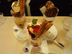 meal, ice cream, parfait, sundae, produce, food, dish, gelato, dairy product, dessert, cuisine,