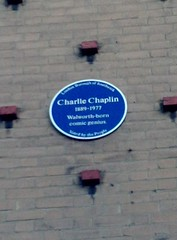 Photo of Charlie Chaplin blue plaque