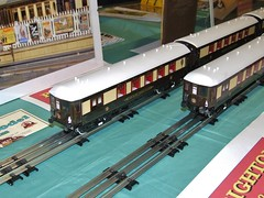Blue Pullman trains in chocolate and cream livery