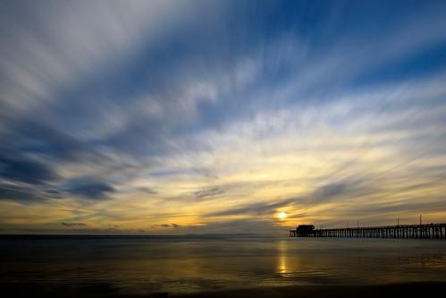 ocean california longexposure sunset sky usa cloud seascape reflection beach water canon landscape pier unitedstates perspective wideangle newportbeach orangecounty ef14mmf28liiusm eos5dmarkii