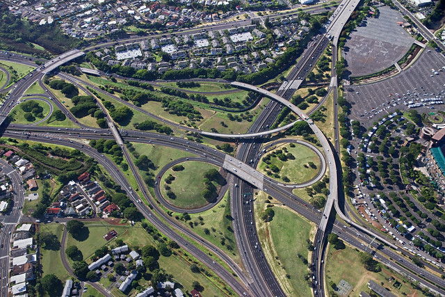 Freeway Interchange aerial