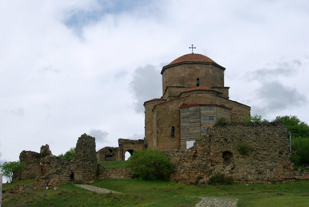 Jvari Monastery in Spring
