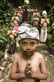 Abangan, Ubud - The Cute Warriors (Baris Dance members)