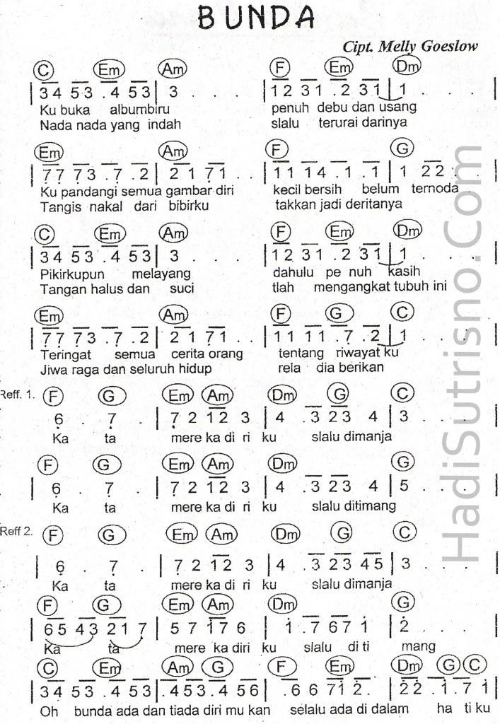 partitur-bunda-mellygoeslow-sheet music - a photo on flickriver
