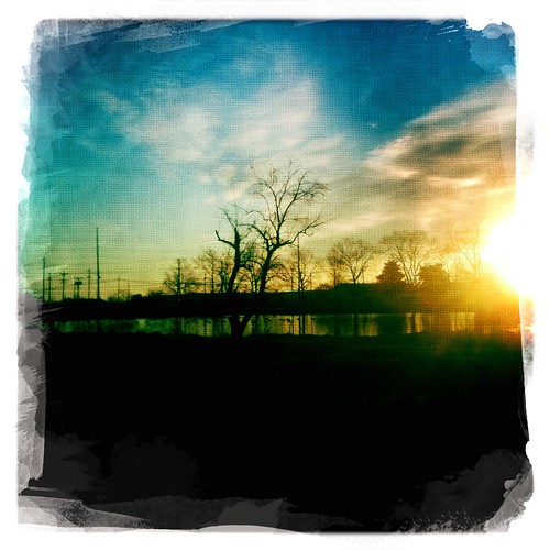 trees sky water clouds sunrise geese pond ducks iphone iphonography dreamcanvas hipstamatic