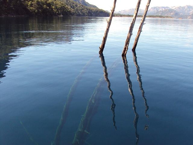 Lago Traful planchado y soleado