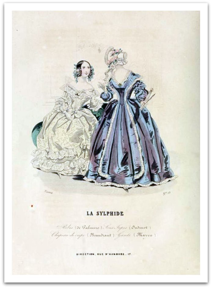 La Sylphide Fashion Plate 1840 - No 15