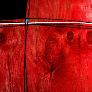 Abstract wood grain painting
