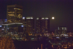 Super Moon Over Downtown Richmond Virginia