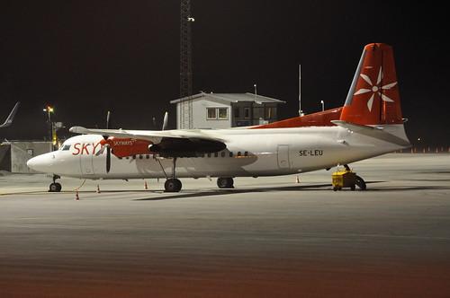 SE-LEU Fokker 50 Skyways