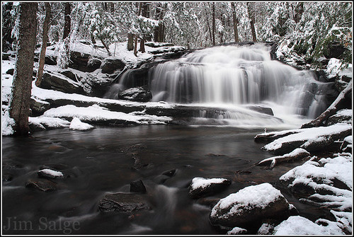 Spring Snow at Tucker Brook Falls