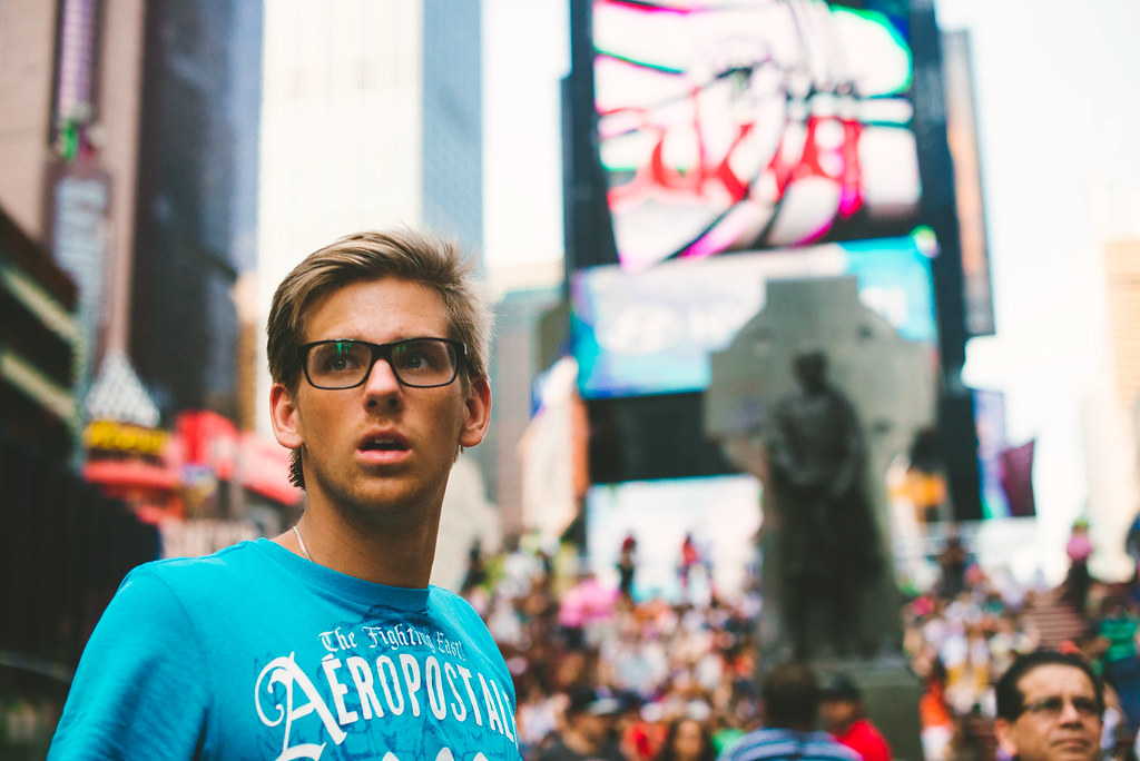 tourist in times square