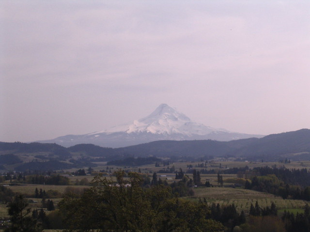 Mt Hood, from Panorama Point - the Hood River Valley - Easter Sunday