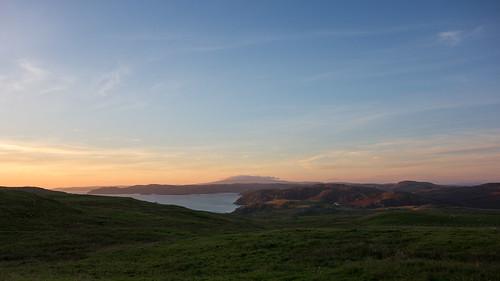 brae scotland unitedkingdom shetland sunset