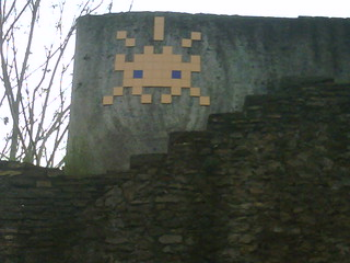 Space Invaders, Porta Portese, Roma.