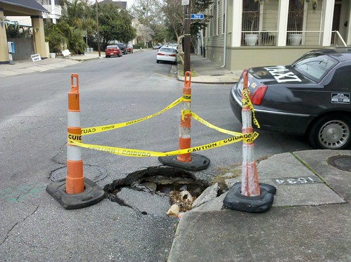 Pothole still there