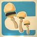 Mushroom Burgers food painting for the vegetarian recipes cookbook by Australian artist Fiona Morgan