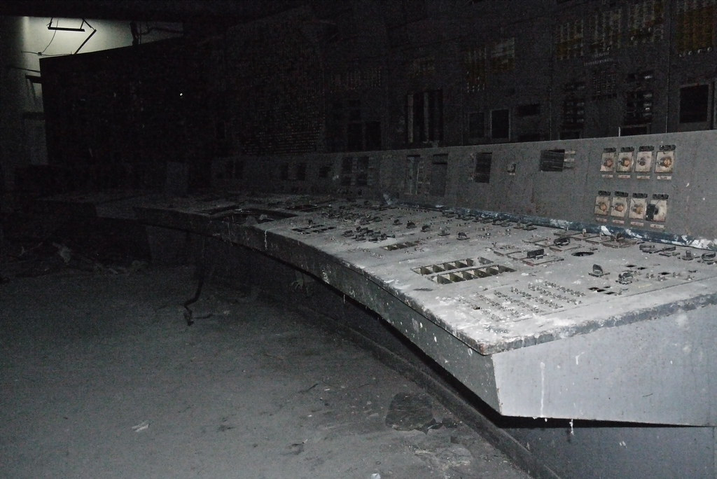 The control panel of Chernobyl's Reactor Four