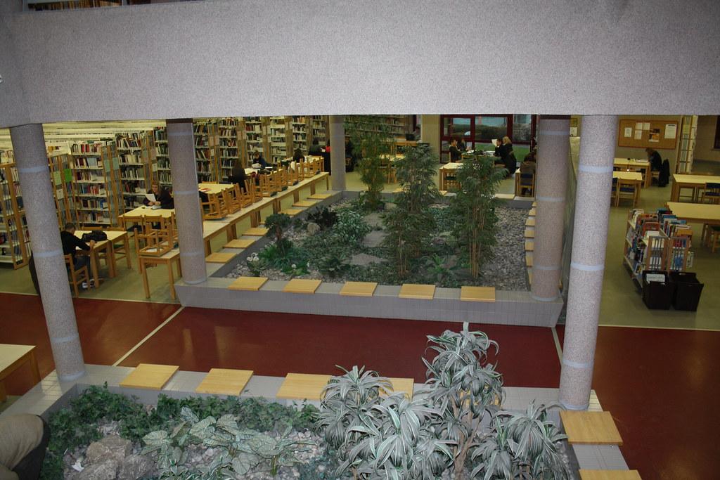 Bibliothèque universitaire à Arras : jardin (avant rénovat ...