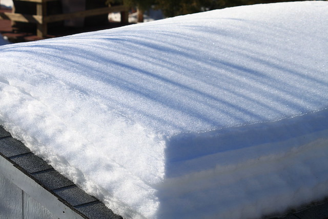 snowpack on a roof