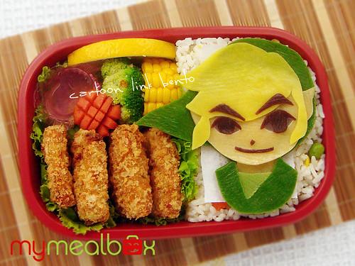 Mymealbox cartoon link bento for Cuisine zelda