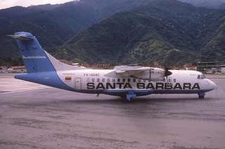 155af - Santa Barbara Airlines ATR 42-320; YV-1014C@MRD;19.10.2001