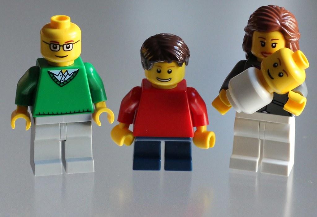Familia en Lego