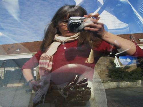 this is me in the window of my dads car