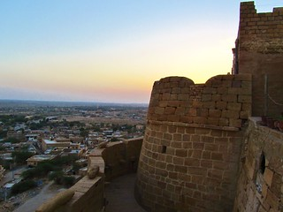 Image of Jaisalmer Fort near Jaisalmer. sunset india evening asia fort february jaisalmer rajasthan 2011