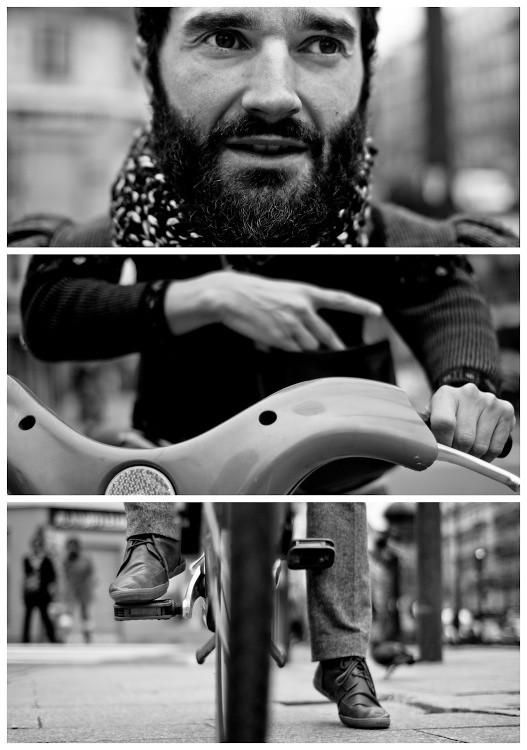 Triptychs of Strangers #3: The Cyclist, Paris