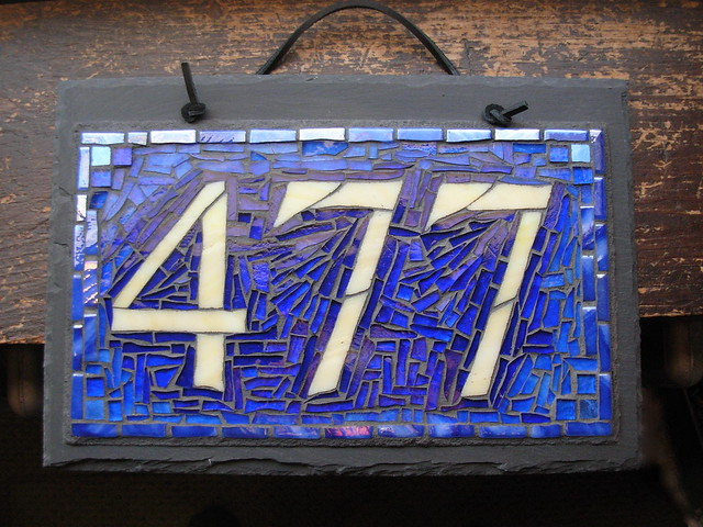 Custom Mosaic House Number 477 Flickr Photo Sharing