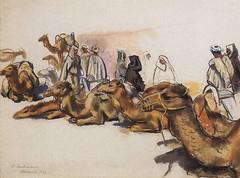 [ S ] Zinaida Serebriakova - Camels in Marrakesh (1932)