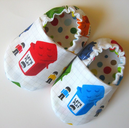 Reversible Baby Shoes, Lego Blocks