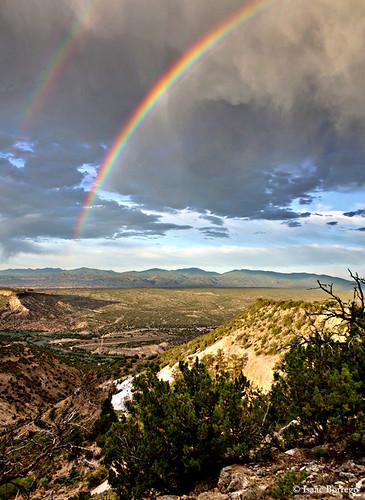 challengeyouwinner geo:lat=35829496 geo:lon=106186763 geotagged rainbow rainbows doublerainbow whiterock newmexico nm canyon unitedstates america usa