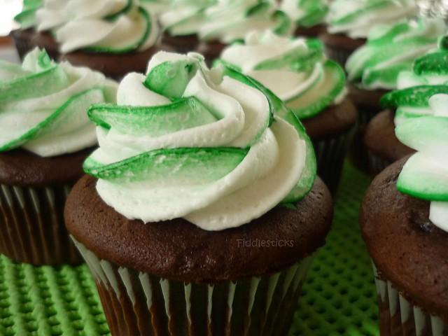 Crème de Menthe Cupcakes!   Flickr - Photo Sharing!