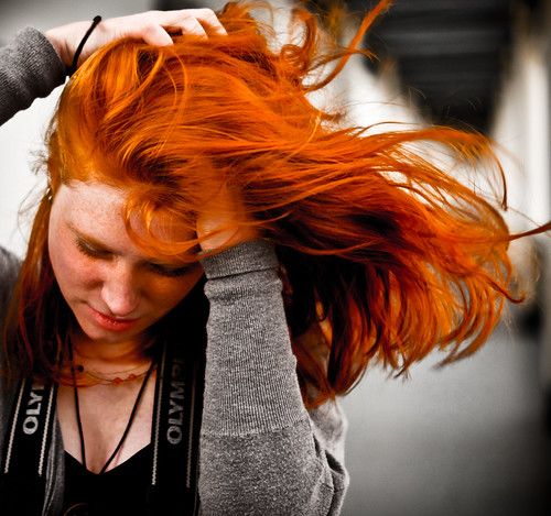Ginger in the wind