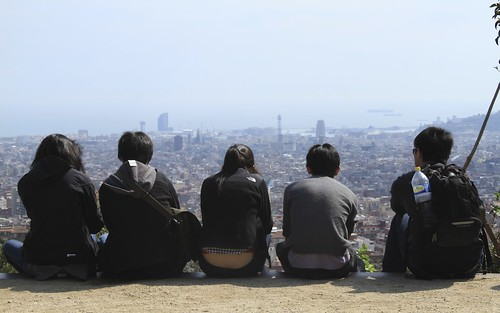 Enjoying The View From Park Guell