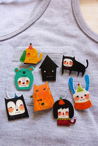 Shrink Plastic Brooches!