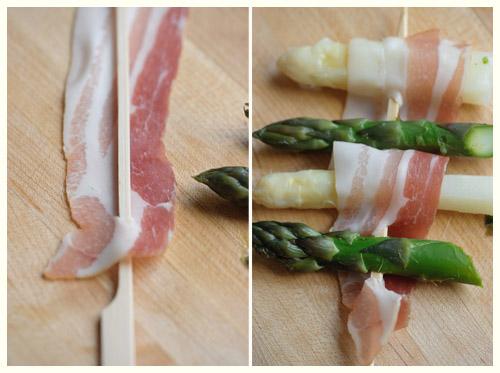 Sizzling Asparagus & Bacon Kabobs