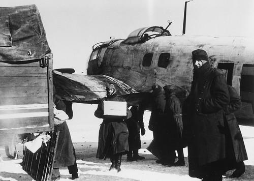 Heinkel HE-111 transport unloading  near Stalingrad 1942