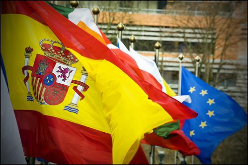 Banderas de España y Europa
