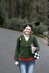 rachel, carrying my book bag for me!