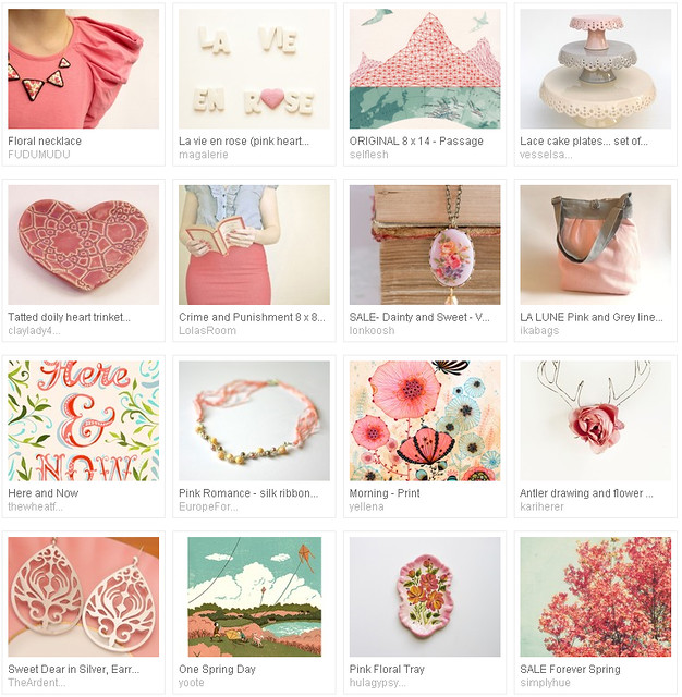 Etsy favourites : la vie en rose - curated by Emma Lamb