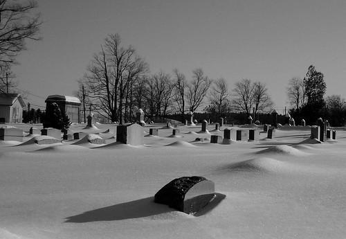 winter blackandwhite snow cemetery tombstones sullivancounty ourdailychallenge